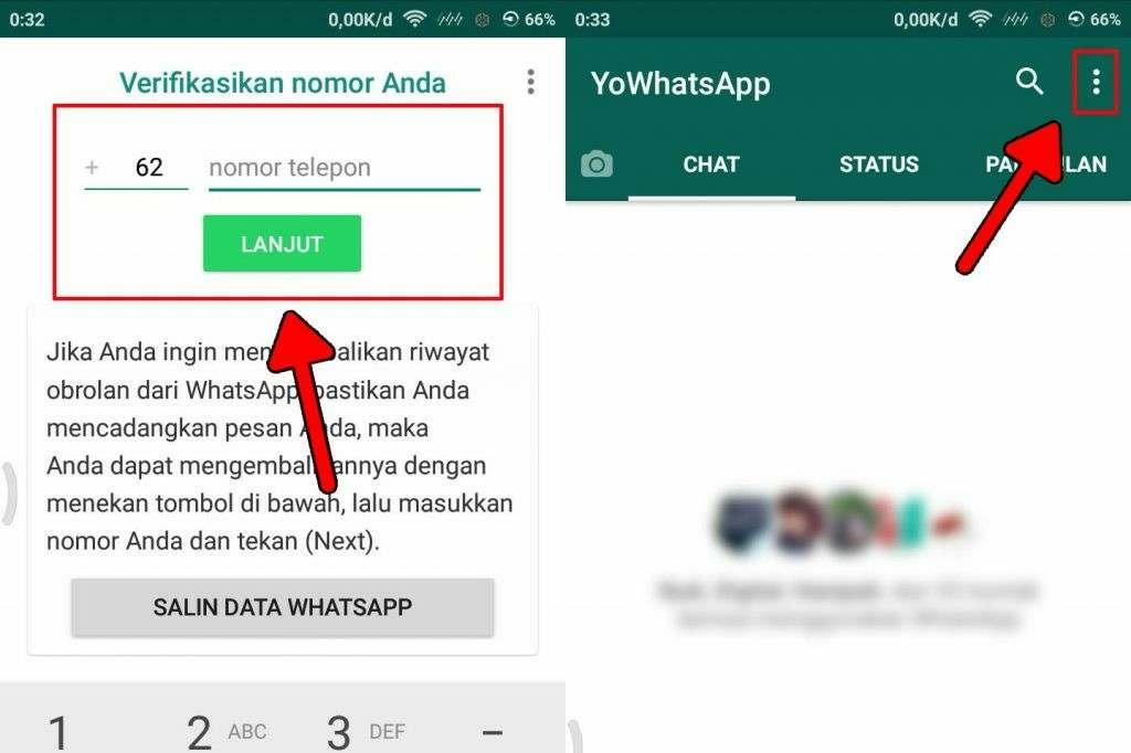 Cara membuat pesan chat WA tidak bisa di tarik pengirim 3