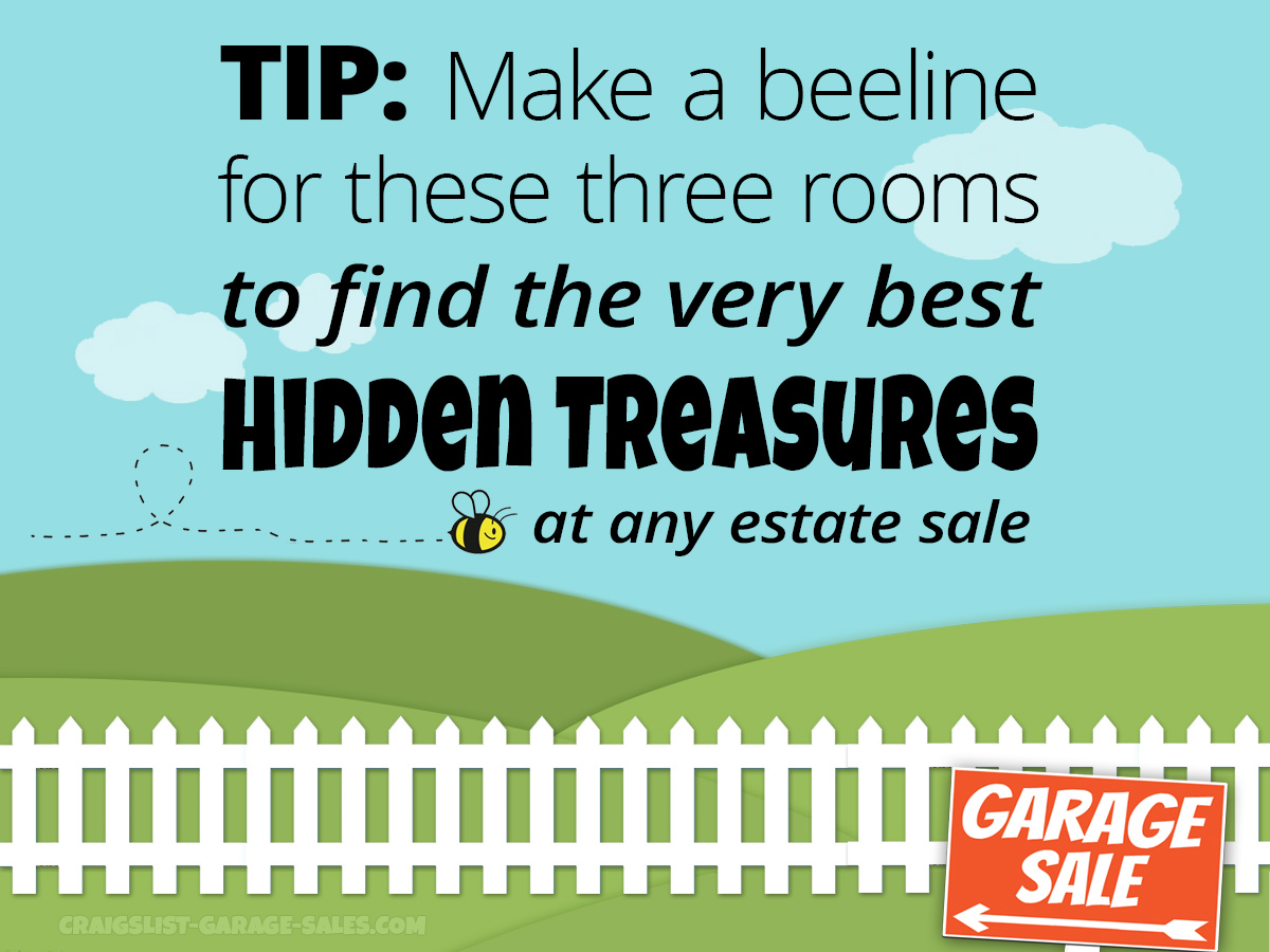 ESTATE SALE TIP: Best rooms to search for hidden treasure