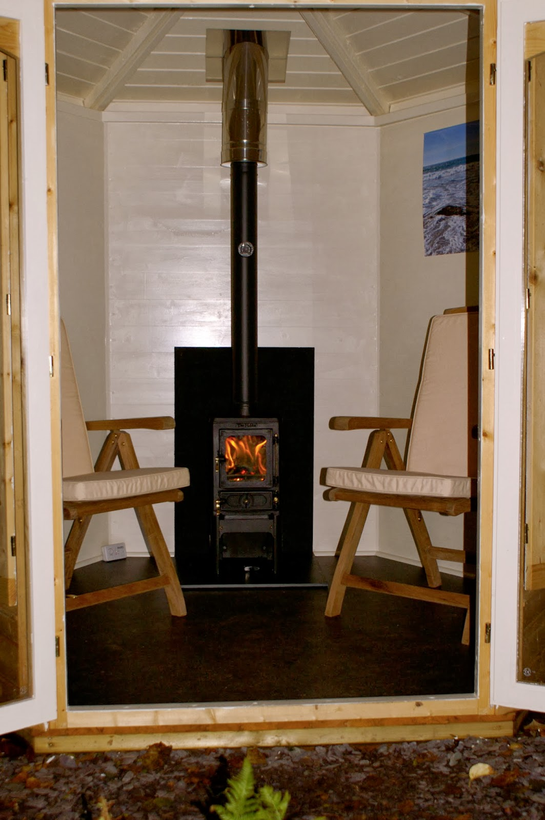 Woodburner Installation In A Summerhouse