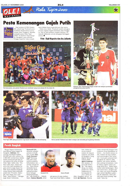 TIGER CUP 2000 THAILAND WINNER
