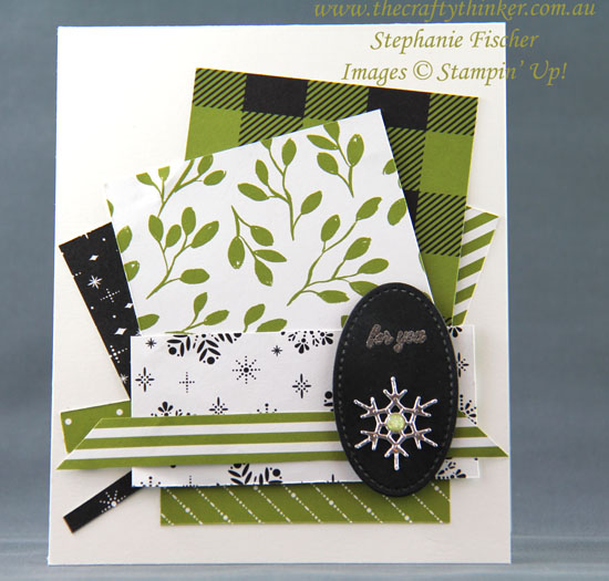 #thecraftythinker, #stampinup, #christmascard, #cardmaking, Using up scraps, Seasonal Layers, Christmas Card, Stampin' Up Australia Demonstrator, Stephanie Fischer, Sydney NSW