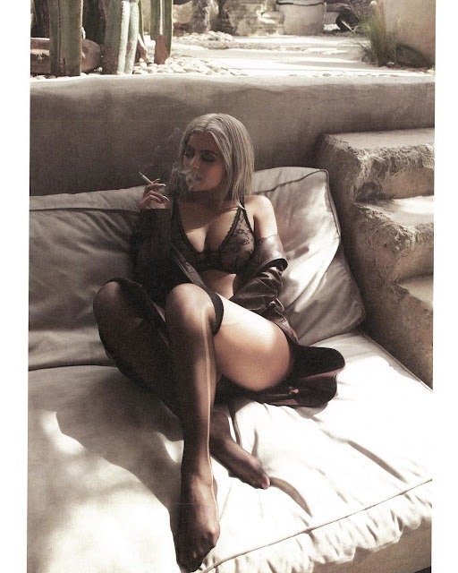 Kylie Jenner Poses in Sheer Lingerie