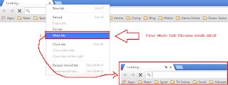Fitur Mute Tab Chrome Browser Aktif
