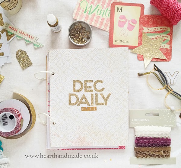 December Daily gold glitter stickers by Meri meri