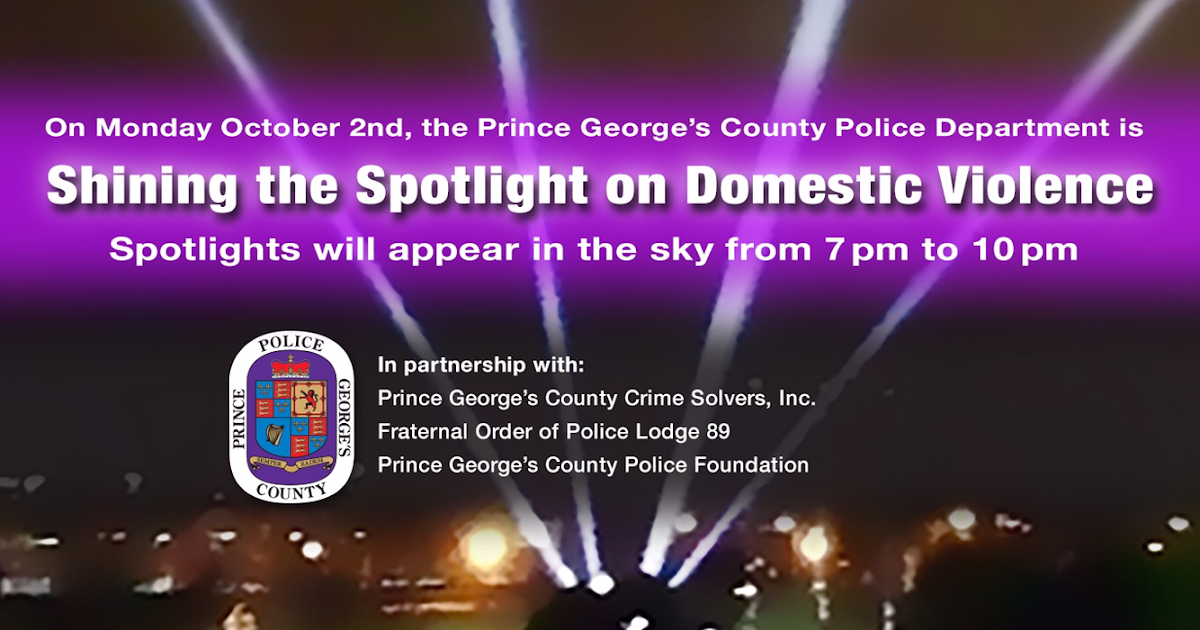 """PGPD News: PRINCE GEORGE'S COUNTY POLICE """"SHINE THE ..."""