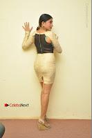 Actress Pooja Roshan Stills in Golden Short Dress at Box Movie Audio Launch  0114.JPG