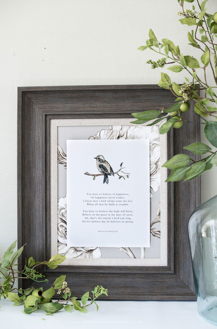 Watercolor sparrow free printable