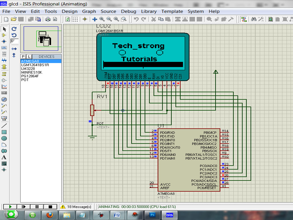 Tech_strong: EMBEDDED SYSTEMS TUTORIAL 9- INTERFACING 128X64