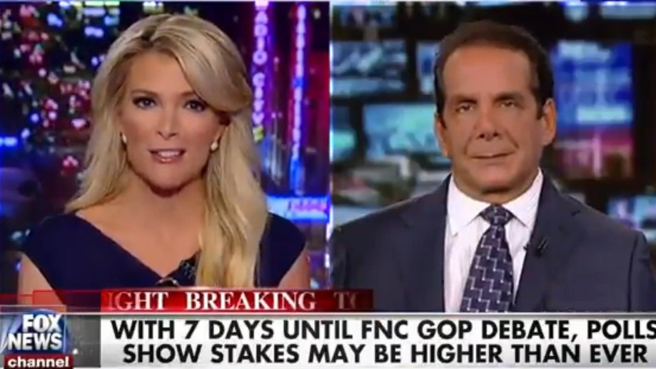 Megyn Kelly and Charles Krauthammer will co-moderate the first Republican debate on Aug. 4, 2015 in Cleveland, Ohio