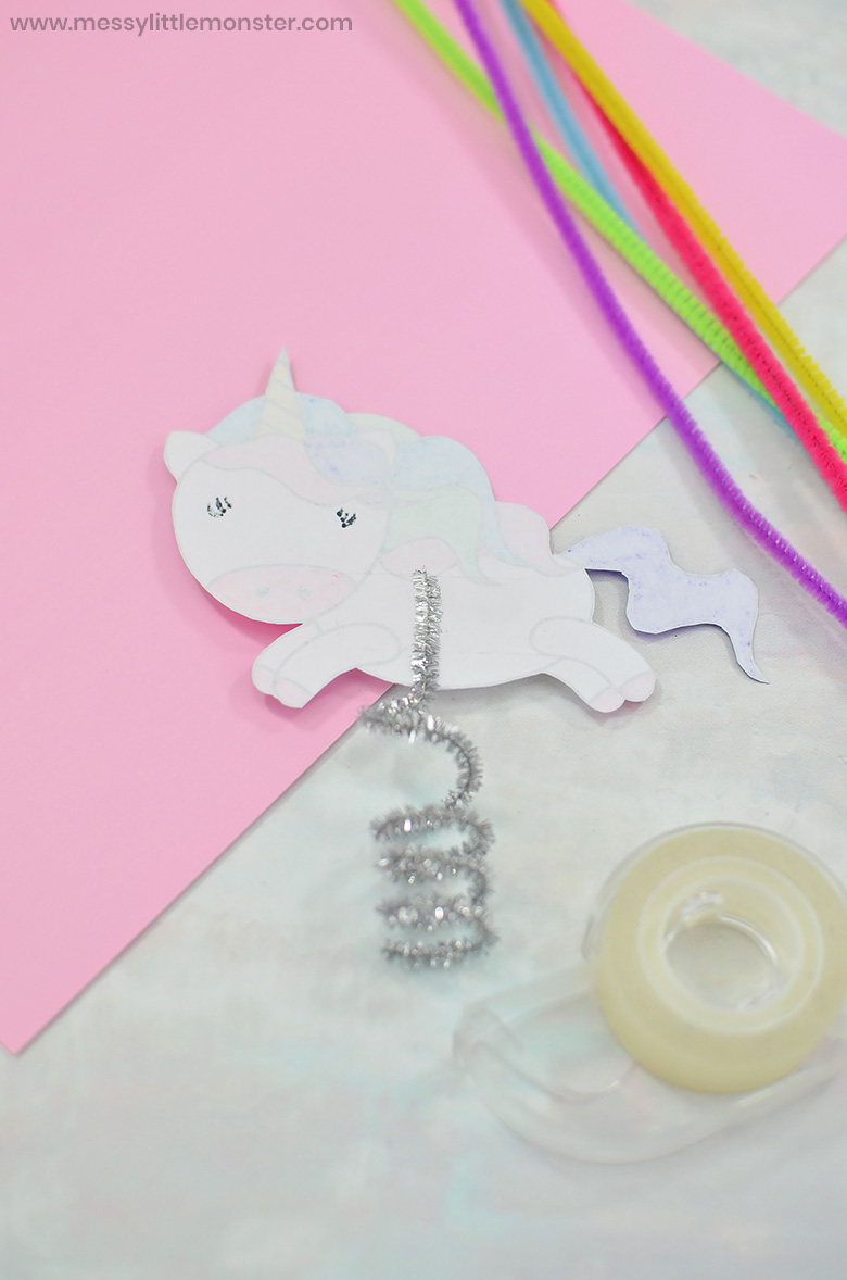 flying unicorn craft for kids