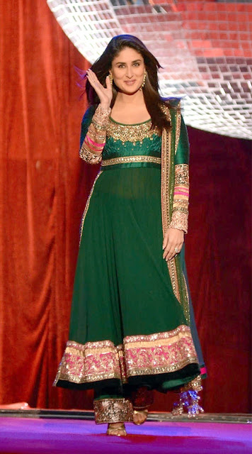 Kareena Kapoor Dark Green Long Georgette Length Anarkali Suits