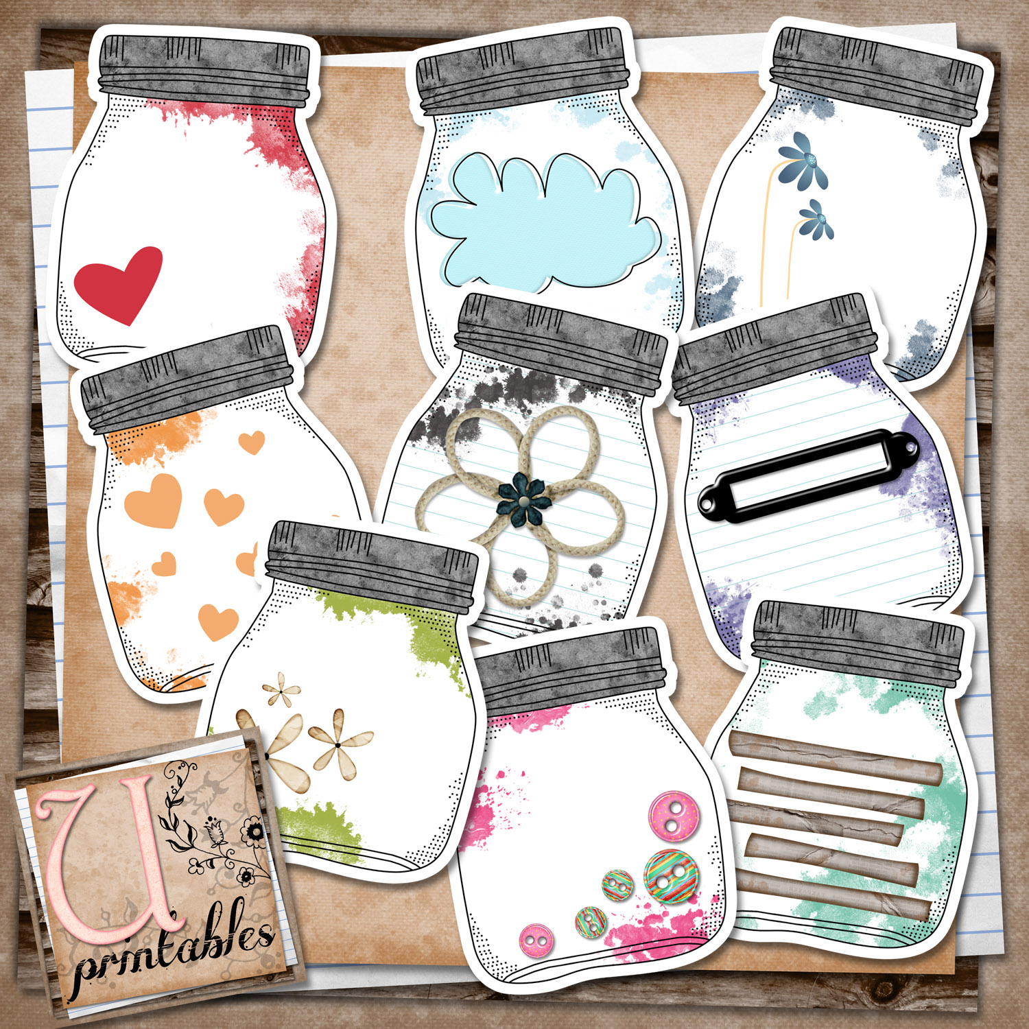 This is a graphic of Critical Mason Jar Printable