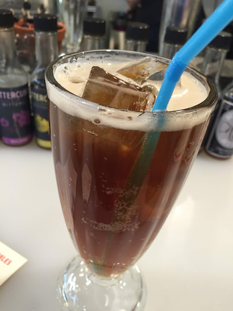 Freshly mixed Bittercube Root Beer at Can Can Wonderland