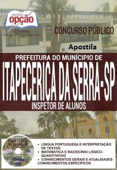 Apostila Prefeitura Itapecerica da Serra 2016 para Inspetor de Alunos