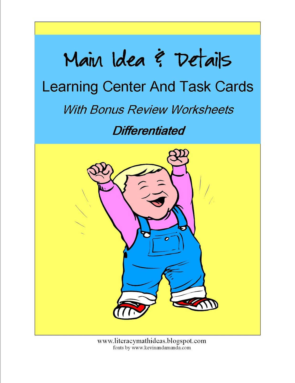Literacy Amp Math Ideas Differentiated Main Idea Resources
