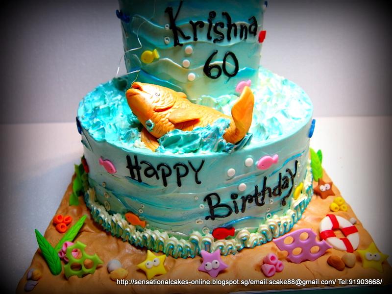 The Sensational Cakes Fishing Theme Cake Singapore 60th