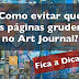 Como evitar que as páginas grudem no Art Journal (How to prevent pages from sticking in the Art Journal) - VIDEO