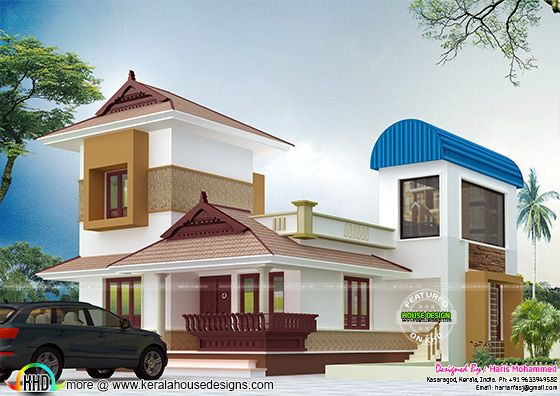 Half traditional half modern home design