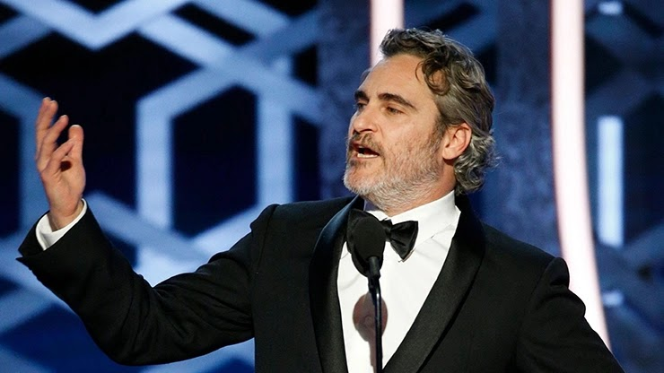 Хоакин Феникс на Golden Globe Awards