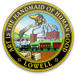 art is the handmaid of human good lowell, ma seal