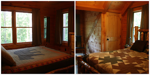 Bedrooms in a Hocking Hills, Ohio Cabin