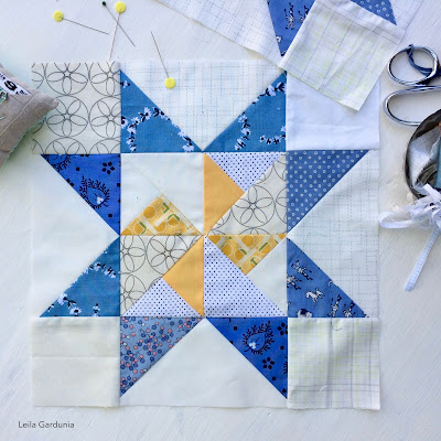 Fresh & Scrappy Block of the Month Quilt 2019 - perfect for scraps and fabric leftovers