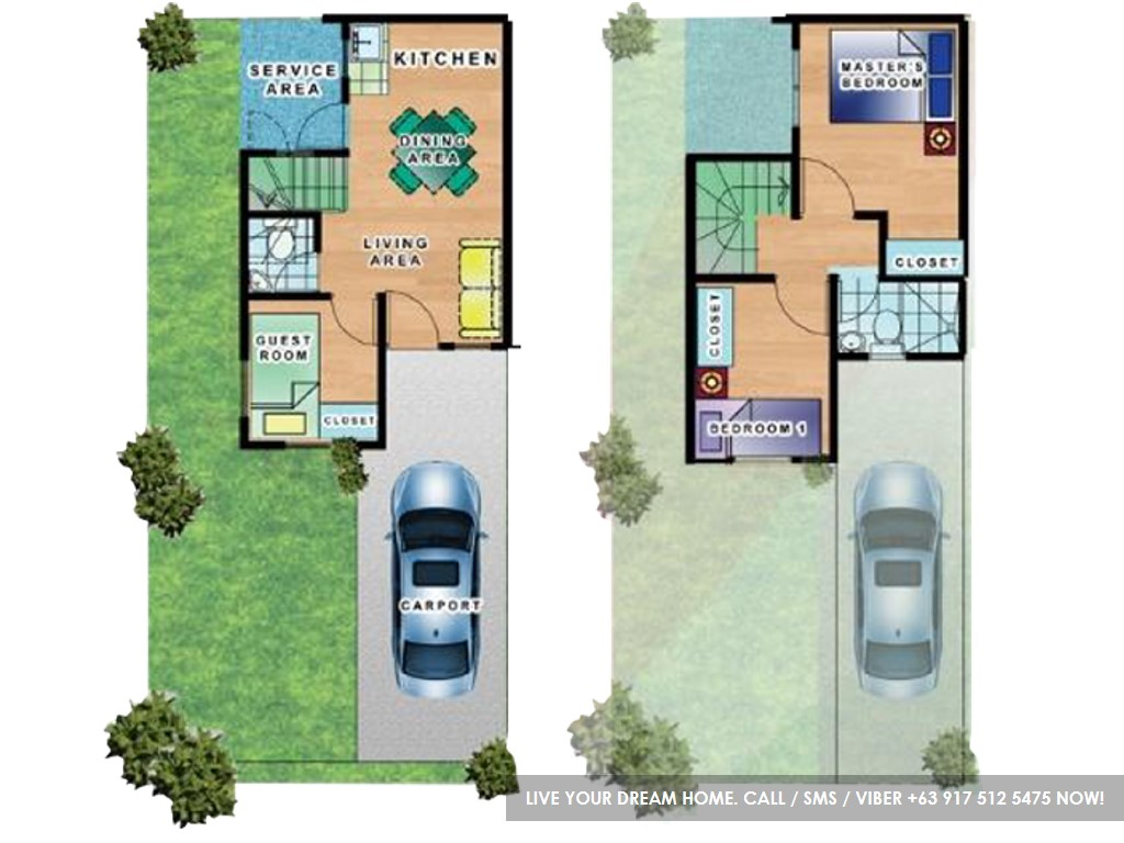 Floor Plan of Portia - Micara Estates | House and Lot for Sale Tanza Cavite