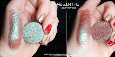 ABSINTHE  SWATCHES eyeshadow ombretto  goldust collection Nabla cosmetics