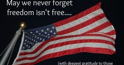 Happy Memorial Day 2016: may we never forget freedom isn't free,