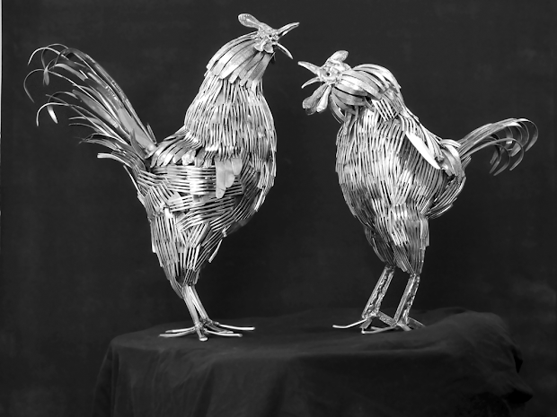 Sculptures Made From Silverware