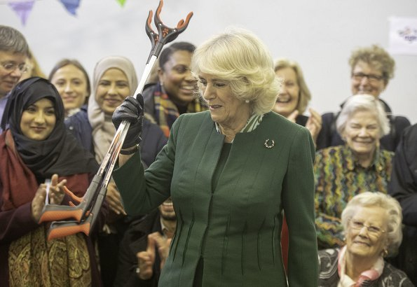 The Duchess of Cornwall visited Malmesbury Residents Association
