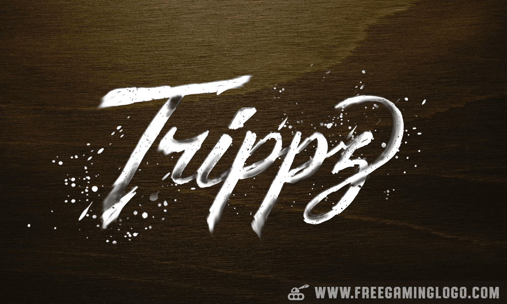 Trippz hand lettering signature design