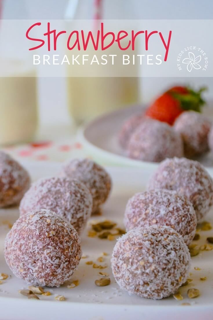 Strawberry breakfast bites #breakfast #cake