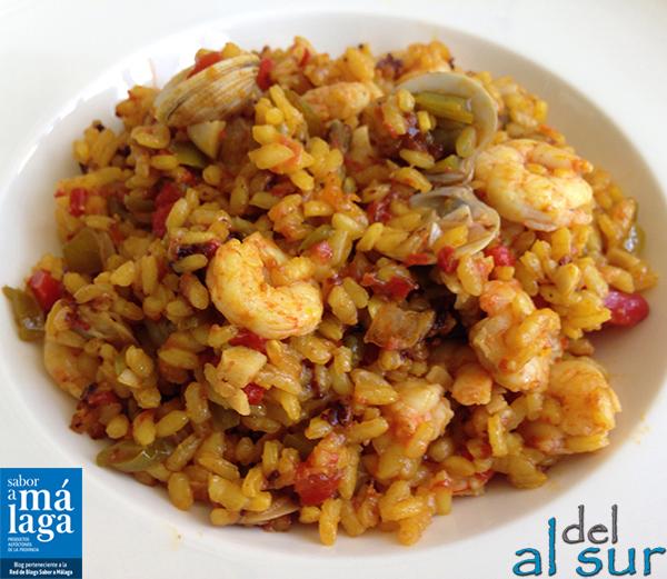 La Cocina Malaguena Alsurdelsur Arroz Con Gambas Al Ajillo