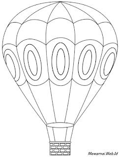 Mewarnai Balon Udara : mewarnai, balon, udara, Mewarnai, Balon, Udara, Coloring, Drawing