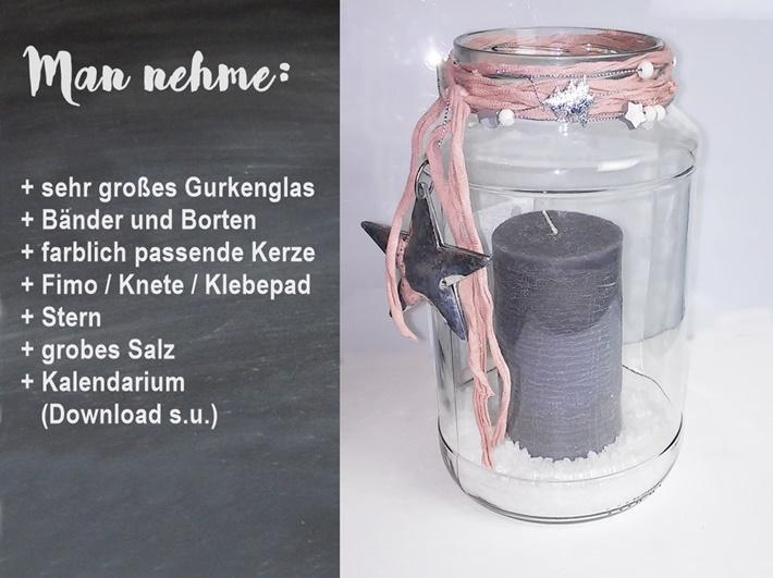 Anleitung fuer ADventskalender im Glas