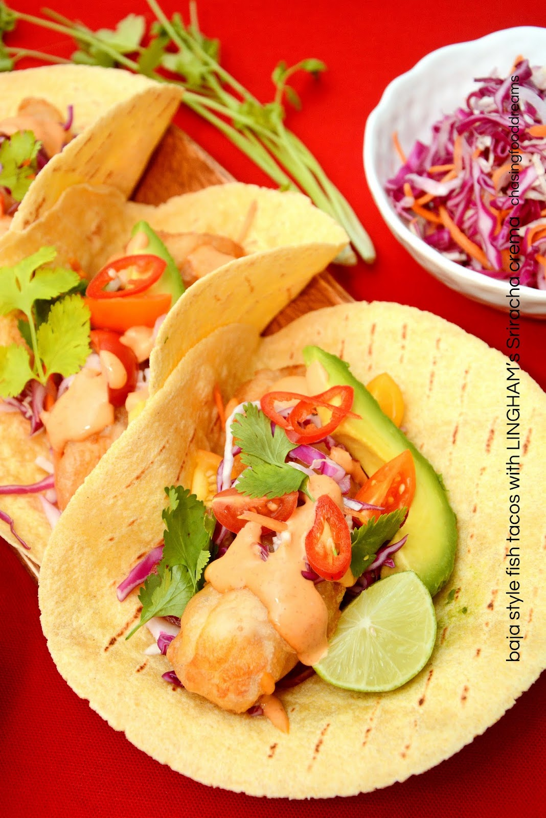 Chasing food dreams recipe baja style fish tacos with for Crema for fish tacos