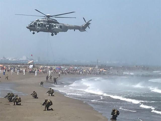 VIDEOS; Captan como Marina desde helicóptero realiza espectacular operación táctica en Boca del Río