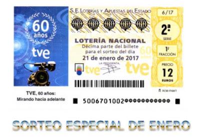 loteria nacional sorteo especial de enero sabado 21-01-2017