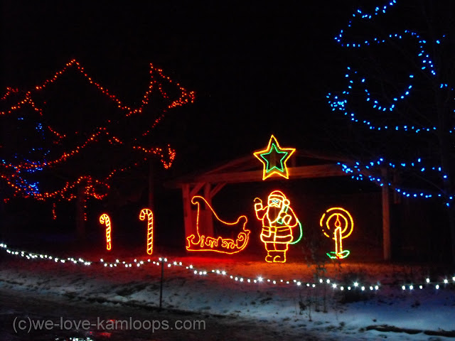 Santa display in the park
