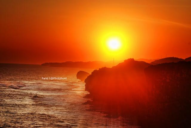 pantai Krakal, pantai yogyakarta, gunung kidul, pantai, sunset