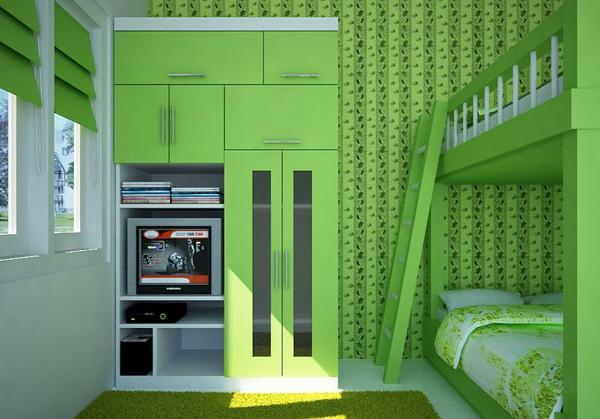 Bedroom Wallpaper Green