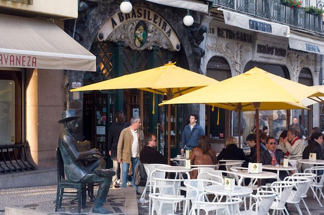Café A Brasileira no Chiado