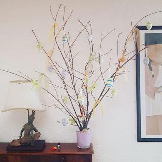 Pensée positive Count Your Blessings Pâques Easter Arbre à oeufs Famille Chaleur Amour
