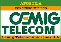 Apostila concurso CEMIGTelecom BH - Cemig Telecomunicações MG 2016,