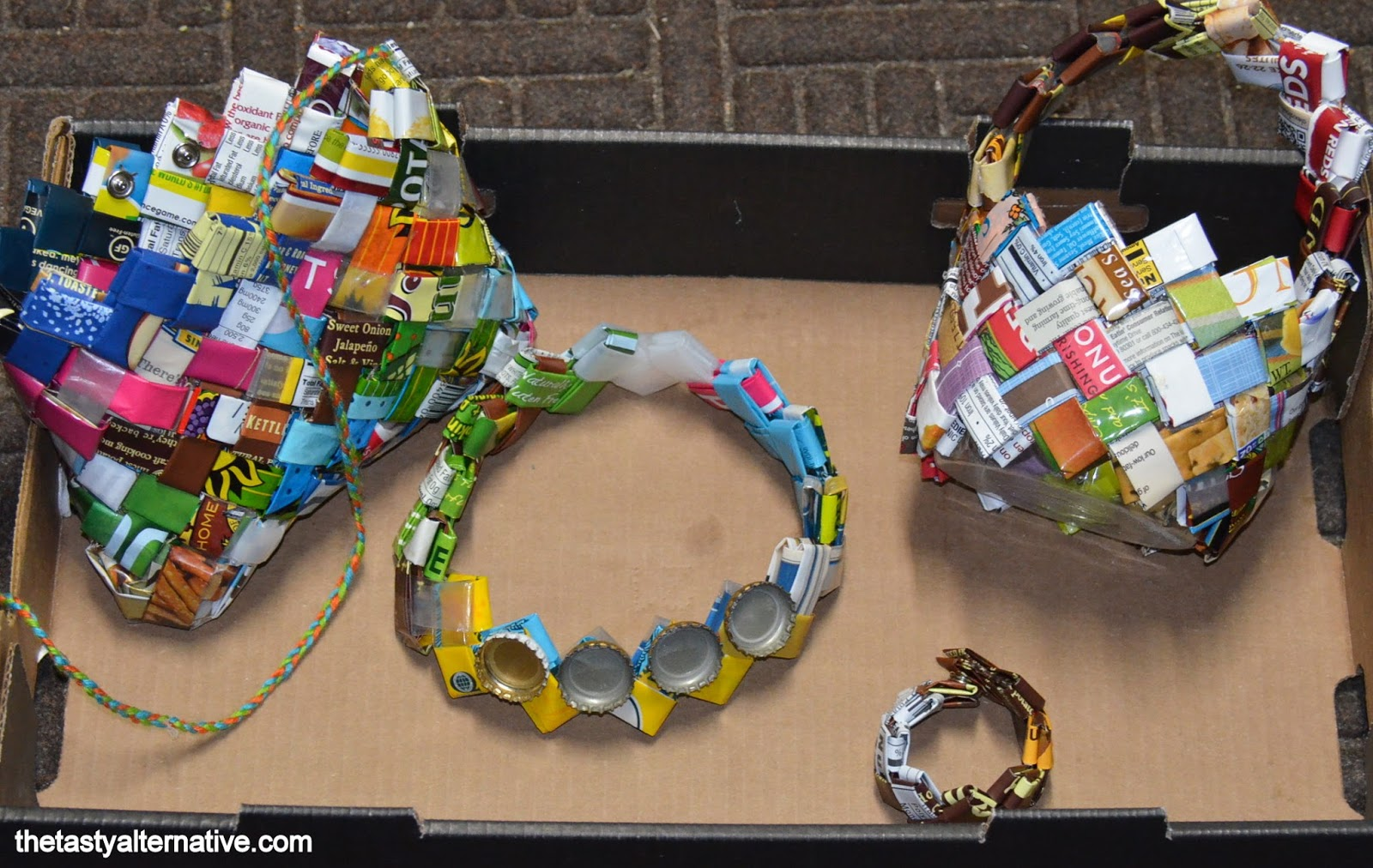 Waste material activity easy arts and crafts ideas for Things made from waste