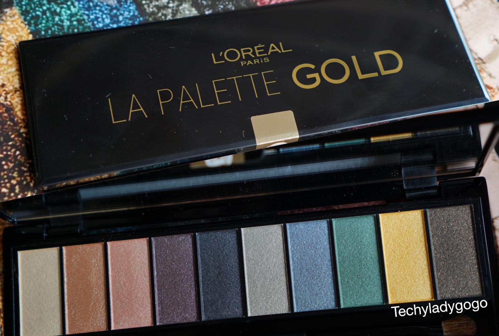 LOREAL LA PALETTE GOLD สว้อตชสี อายแชโดว์พาเลทผสมพิคเมนท์ สีทอง 10 เฉดสี  ข้อมูลเฉพาะของ ลอรีอัล ปารีส คัลเลอร์ ริช ลา พาเลท โกลด์ อายแชโดว์