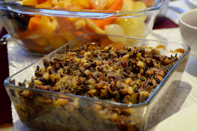 Vegan main - wild rice pinenut stuffing