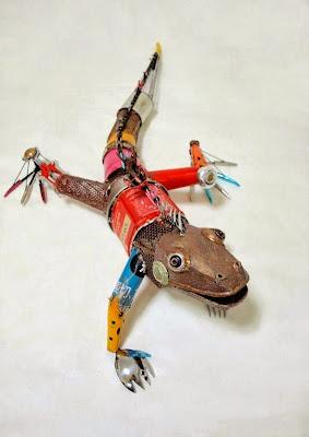 como hacer animales con material reciclado