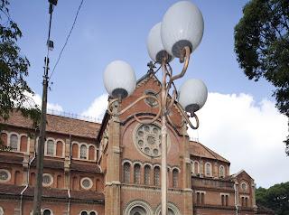 Kathedrale Notre Dame. Ho Chi Minh Stadt. Vietnam